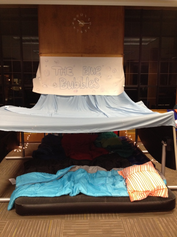 Blue Tie Library Camp Out
